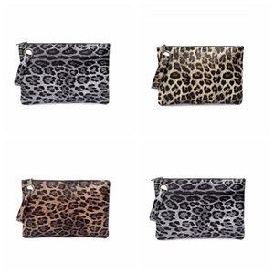 3 estilos Saco Envelope Leopard Impresso Bolsas PU carteira de couro da bolsa Leopard com 500pcs CCA12138 TRANSPORTE MARÍTIMO
