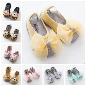 Baby First Walkers Newborn Moccasins Prewalker Infant Non-slip Floor Socks Toddler 3D Dolls First Walkers Shoes Rubber Soles Footwear D5511