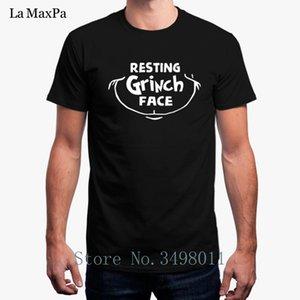Alta calidad camiseta de los hombres de descanso Grinch Cara Dr Hombre envuelve camiseta de algodón Ropa fitness corta Camiseta hombre más el tamaño 3XL