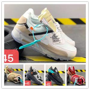 2020 uomo wome OffnbspWhite x Air nbspMax 90 scarpe da ginnastica all'aperto '90 Classic Max scarpe da trekking Trainer aria sportivo scarpa da tennis 36-45