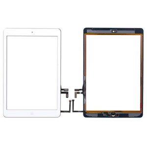 50pcs Nuevo 2017 de la pantalla táctil para el iPad 5 A1822 A1823 exterior del panel frontal de vidrio incluye botón de inicio Adhesivo