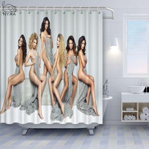 Пользовательская Sexy Hot Girl сексуальная женщина груди ванная душ занавес наборы Водонепроницаемого Decor Полиэстер Shower Curtain для домашнего декора Шторы