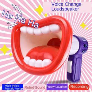 Novelty Toys Big Lip Megaphone Loudspeaker Multi Voice Changer Creative Funny Voice-changing Toys Voice Modifiers for Kids Gift