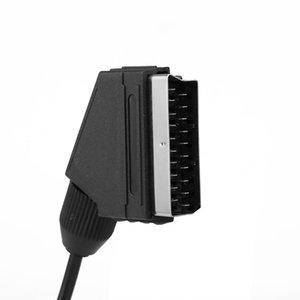 1.8M 6FT EU version V-pin Scart cable RGB AV Cables PAL For Sega Genesis 2 Mega Drive MD 2 High quality