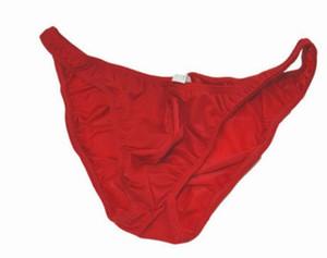 Оптовая высокое качество низкая цена 3 шт. / лот ледяной шелк мужские сексуальные трусы нижнее белье