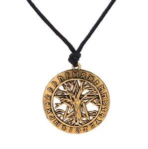 A14 Vintage Nordic Style Viking Chanceux Arbre Charme Déesse Wicca Pentagramme Amulette Magique Collier Couples Collier