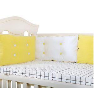 Bebek Yatak Tampon Pamuk Yenidoğan Beşik Tamponlar Bebek Güvenli Çit Cot Koruyucu Kalınlaşmak Yastık Yastık Bebek Odası Yatak