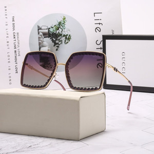 Sunglasses Top Women Big Frame Bee Sunglasses Fashion Super star Oversized Clear Gradient Sun Glass Gafas De Sol Glass Gens With box cases
