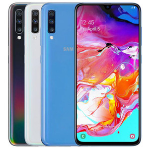Remis à neuf d'origine Samsung Galaxy A70 A705F Dual SIM 6,7 pouces Octa de base 6Go RAM 128Go ROM Android 32MP Unlocked Smart Phone gratuit DHL 1pcs
