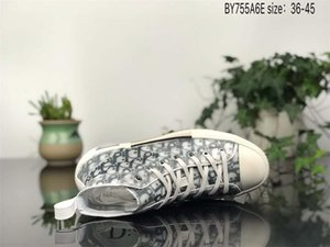2020 Luxury designers Shoes Oblique high quality High Top Sneakers Women Mens Transparent Printed High Cylinder canvas Shoes