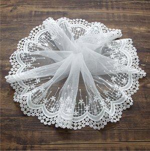 accesorios hechos a mano de prendas de vestir ajuste de la cinta del borde del cordón del bordado de la tela de algodón de malla de tul arte de costura apliques de bricolaje