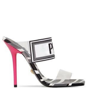 scarpe attuali misura grande 42 43 Sandali donna Scarpe firmate di lusso Slide Estate Moda tacchi a spillo Sandali scivolosi in PVC Pantofole con scatola