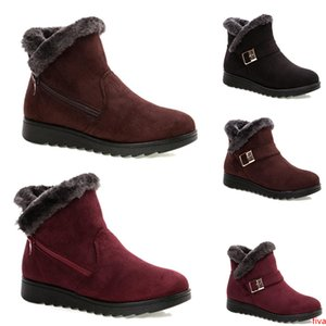 2020 Non-Brand free shipping winter women snow boots Triple Black Wine Red Brown Suede ankle boots Mother Shoes Keep Warm 36-40 Style 22