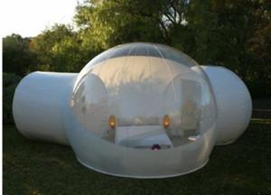 Tienda de burbujas inflable transparente de 3M con túnel EN VENTA Fabricante de China, tiendas de campaña inflables para ferias comerciales, tienda de jardín inflable