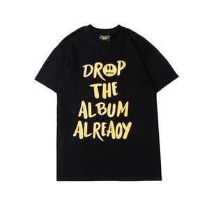 저스틴 비버 (Justin Bieber) 화이트 블랙 2020ss 남성 T 셔츠 힙합 스트리트웨어 티셔츠 여름 짧은 소매면