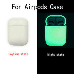 Luxury Silicone Luminous Case For Airpods 2 Soft TPU Glow Cover for airpods Wireless Earphone Accessories Wholesale Free Shipping