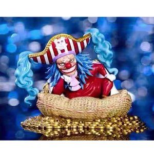 10CM YZ One Piece Roger The Pirates Seven Warlords Of The Sea Buggy Splintered Fruit Original GK Action Figure Collectible Model Toy X623