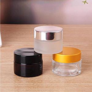 5 g / 5 ml 10 g / 10 ml Qualitäts leere Löschen Container Jar Pot mit schwarzem Deckel für Powder Make-up, Creme, Lotion, Lippenbalsam / Gloss, Kosmetik Probe