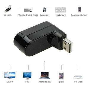 Drehbare Mini 3 Ports USB HUB USB 2.0-Teiler-Adapter für Notebook / Tablet-Computer PC-Peripheriegeräte High-Speed USB-Hub