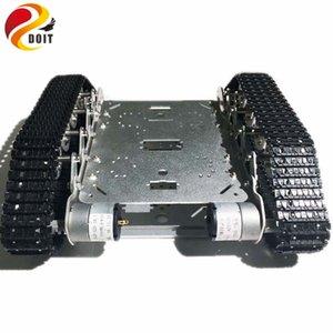 DOIT Caeser TS200 Süspansiyon Şok Emme Tank Robot Şasi Metal Arduino Kontrolü Robot Tank Şasi Platformu Paletli