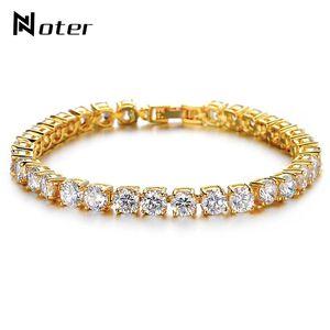 Bracelets Hommes Tennis Noter garçons Micro Crystal Braslet Homme Bijoux main Gold Charm Chain Link Braclet couleur argent Armband