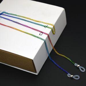Оптовая Радуга цвета металла очки Readingglasses цепи Многоцветный покрытие Легкие Противоскользящая Lanyard Строка Rope 70MM