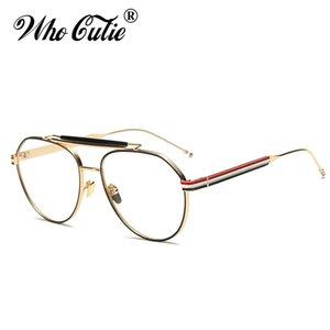 ВОЗ пилот CUTIE Clear Optical Lens Поддельные очки 2018 Мужчины Женщины очки Ретро Золотой металлический каркас Plain Оправы óculos OM364