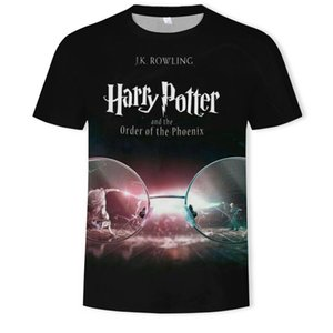 mensShort-sleeved T-shirt round collar Harry Potter 3d personalized stereo printing casual clothing