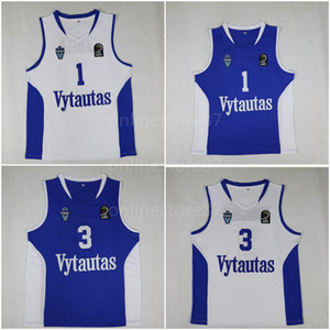 NCAA Cheap Lithuania Vytautas #1 LaMelo Ball Jerseys 3 LiAngelo Basketball Jersey custom made Cheap Blue White Stitched Shirts