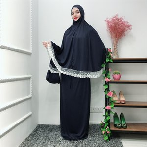 Muslim Black Face Cover Ramadan Bonnet Islamic Khimar Long Loop Scarf Jilbab Prayer Clothing Headscarf Abaya Ramadan