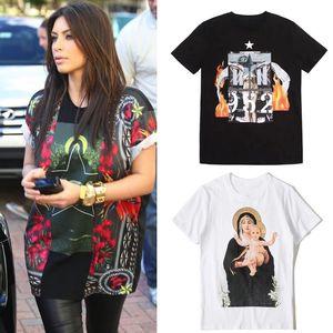 Impresso T Shirt Crewneck Collar Street Fashion Design Mulheres T gráfico 2019 S / S Hot Sale Top Wear