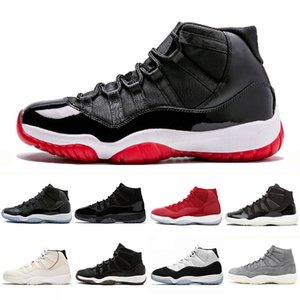 Free Shipping New Bred 11 mens casual shoes concord Platinum Tint Cap Gown Legend Blue Metallic Silver mens trainer sports sneakers