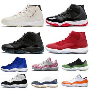 Nike Air Jordan Retro 11 11s Hombres Jumpman vendedor caliente de las mujeres zapatos de baloncesto Concord 2019 Piel de serpiente 11 del Formadores las zapatillas de deporte
