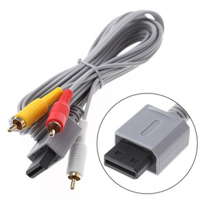 1.8m Audio Video AV Cable Game Console Composite 3 RCA Video Cable Cord Wire Main 480p High Quality For Nintendo Wii Console