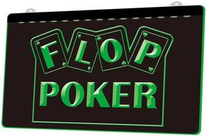 Ls1725 0 флопа игра в покер казино в RGB нескольких цветов пульт дистанционного управления 3D гравировки Сид неоновый свет знак бар магазин паб-клуб