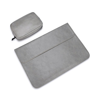 waterproof Notebook sleeve 12 13.3 15 15.4 inch leather Laptop bag pouch cover for macbook air pro 13 15 case