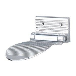 Aluminum Alloy Shower Legs Shaving Shelf - Non Slip Foldable Shower Foot Rest in Polished Chrome Black Finish