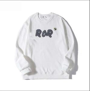 19FW serviette Logo sweat à capuche Abeille Broderie France Classique Marque Designer manches longues Hommes Pulls Hommes T-shirts Vêtements Noir Blanc