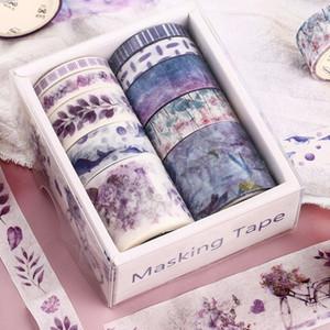 Nuevo 10 PCS / Caja Fantasía Océano Hermosas flores Plantas Deja Cinta Washi DIY Decoración para la cinta adhesiva de la cinta de enmascaramiento de Scrapbooking 2016