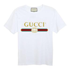 Yaz 2019 Üst Tasarımcı Deluxe Eğlence erkek T-shirt, O-Boyun Moda Marka T-shirt, Pamuk Nefes kadın Kısa Kollu