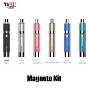 100% authentique kits de kits de magnéto YOCAN 1100mAh Batterie magnétique capuchon de la bobine de silicone intégrée Bobine en coiffe en coiffe en coiffe de cire