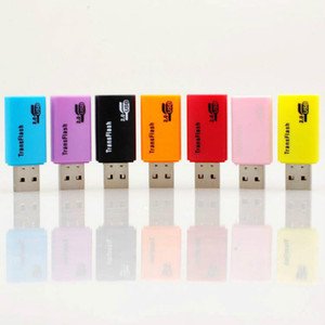 500pcs lot Free Shipping Litter Dog USB 2.0 Memory TF Micro SD Card Reader For PC