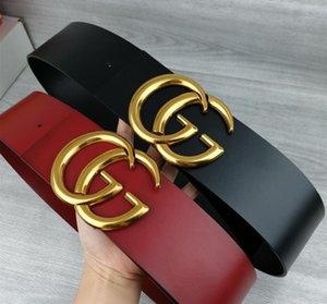 2020 diseñador de moda para mujer nuevo cinturón de 7 cm de ancho, negro, cuerpo rojo, hebilla de cinturón de oro al por mayor caliente, 14
