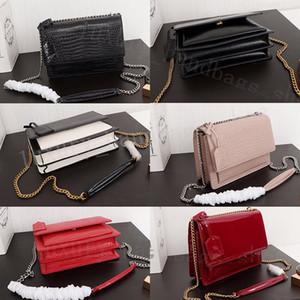 2020 Art und Weise Krokodil Mode Kaviar Beutelfrauen Krokodilmuster Handtaschen Geldbeutel echte Leder Umhängetasche Dame Tragetaschen mit Kasten