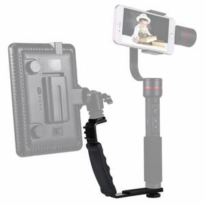 PULUZ L-Shape Bracket Handbook Handbook With Dual Side Cold Shoe Mounts for Video Light Flash, Dslr Camera