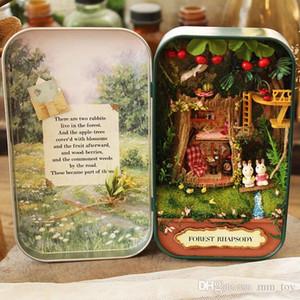 Palco Bosque rapsodia casa de muñeca de DIY 3D mini miniatura Rompecabezas de madera casa de muñecas de juguete Decoración Muebles de regalo de cumpleaños