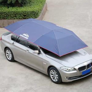 Mobile Easy Install Windproof Sun Shade Oxford Cloth Car Cover Plegable Aislamiento Auto Impermeable Paraguas Botones a prueba de polvo