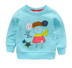 New autumn long-sleeved children's wear children's jacket cotton girl ptinted round neck pullover sweater baby t shirts