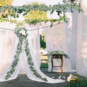 Plantas Artificiais Decorações De Partido De Casamento Eucalipto Garland Willow Verde Longo Folha Plantas Pendurar Home Jardim Decoração