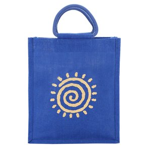 new arrival quality full blue colour jute bag,Custom size small jute bag Low MOQ,low price best quality bag